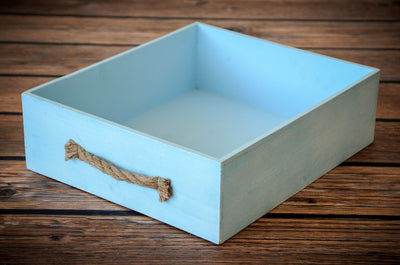 Rustic Crate - Light Blue-Newborn Photography Props