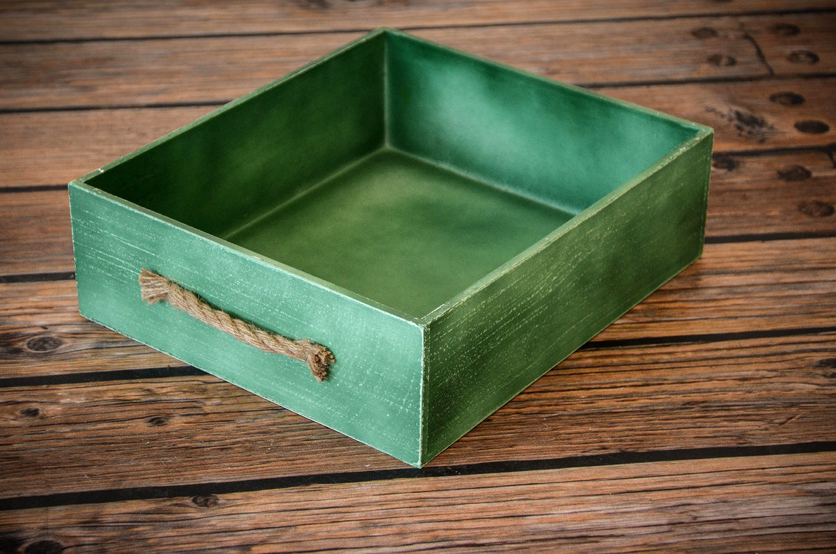 Rustic Crate - Green-Newborn Photography Props