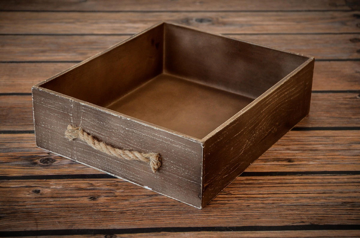 Rustic Crate - Brown-Newborn Photography Props