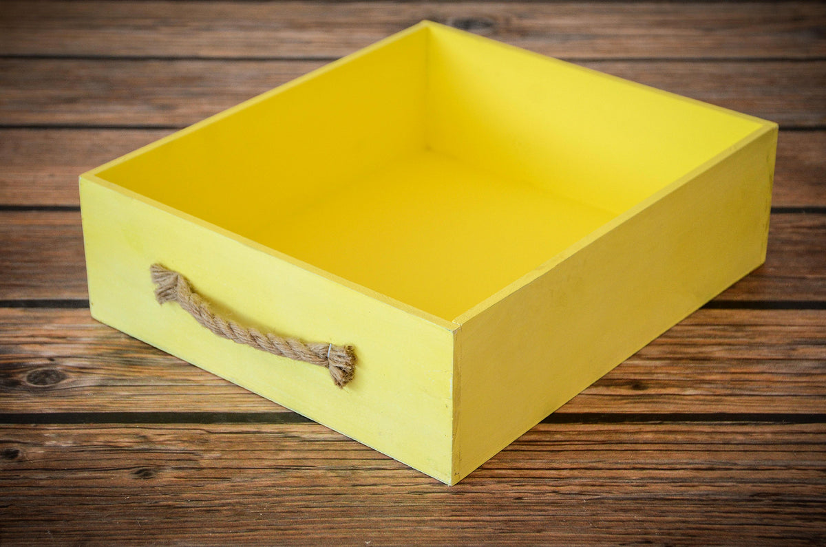 Rustic Crate - Yellow-Newborn Photography Props