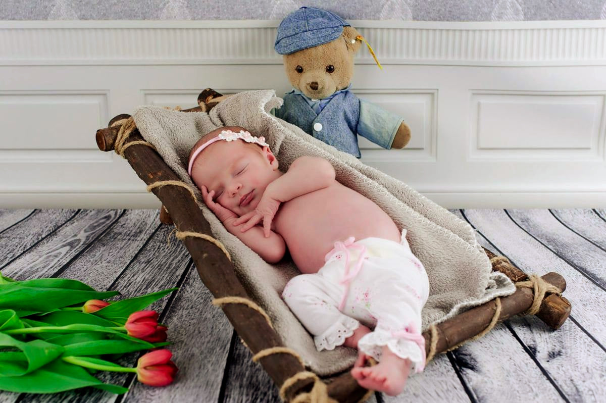 Rustic Floor Hammock-Newborn Photography Props