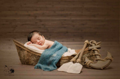 Rustic Rowboat-Newborn Photography Props
