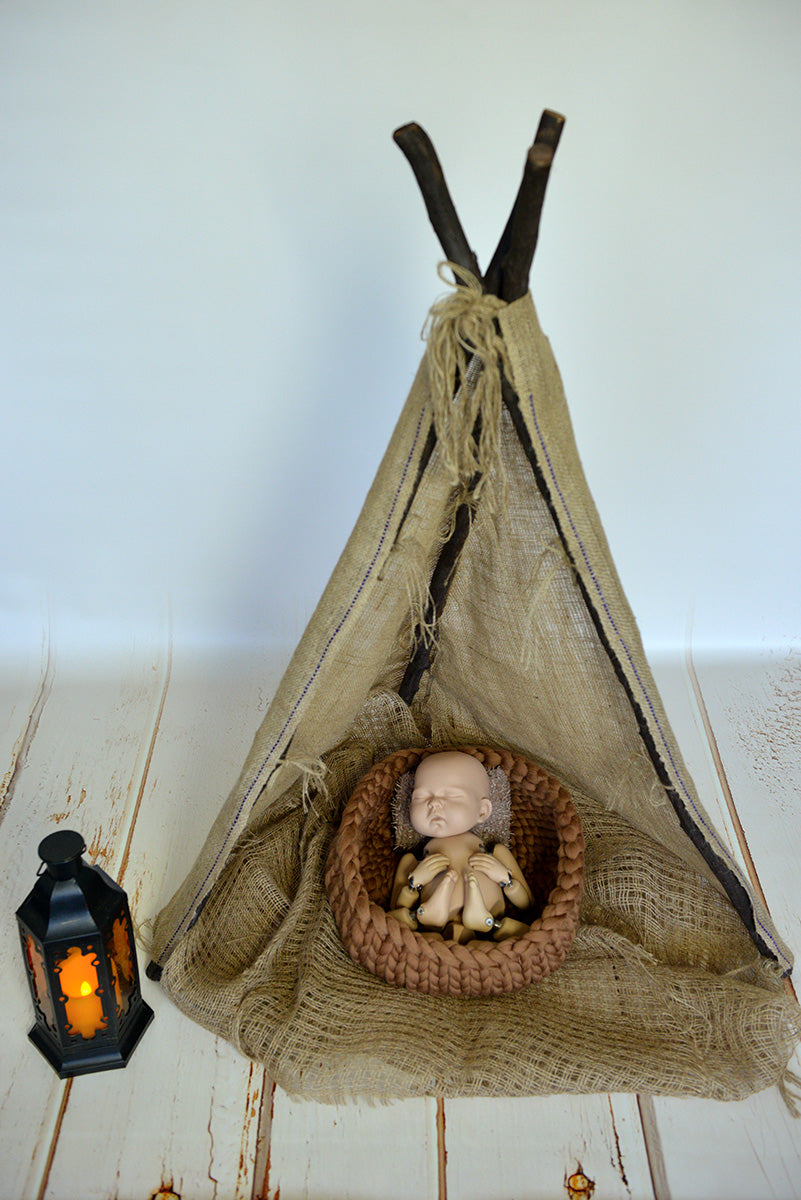 Teepee tent newborn photo prop