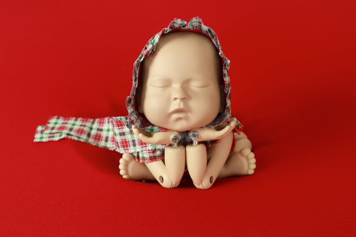 SET Christmas Bodysuit and Headpieces - Plaid