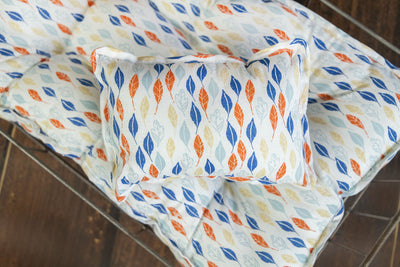 SET Mattress and Pillow - Sketched Leaves