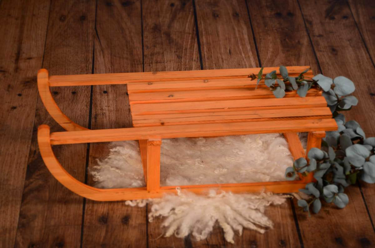 Vintage Wooden Sleigh Newborn and Baby Photography Prop