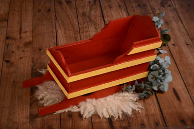 Vintage Wood Sled Newborn and Baby Photography Prop