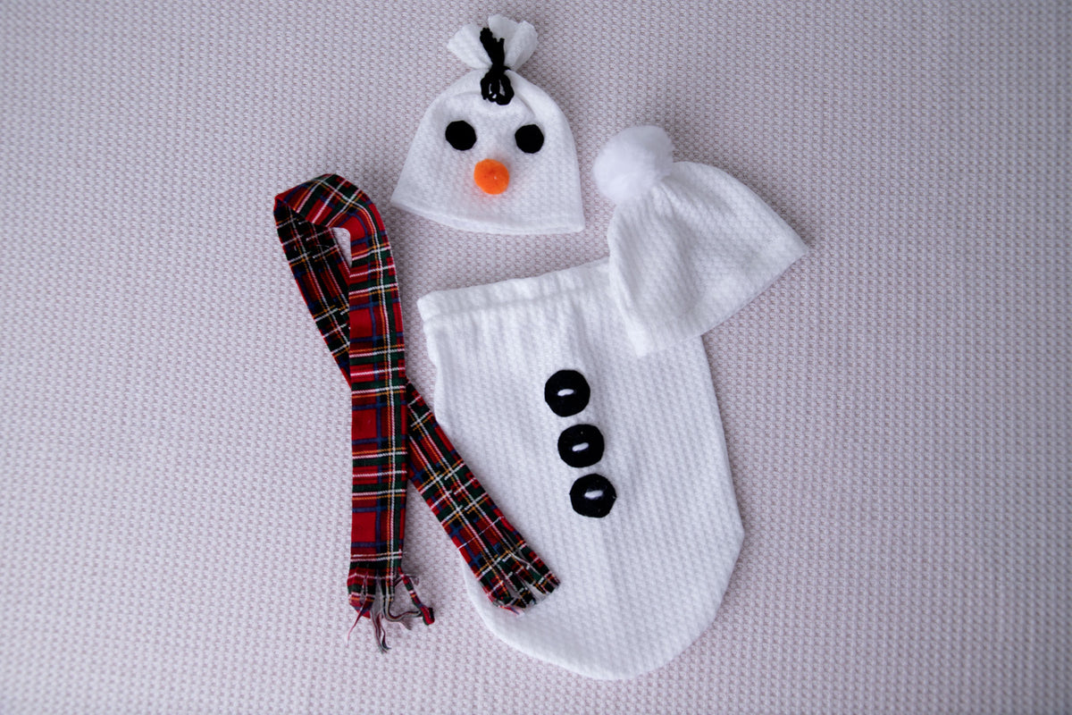 SET Winter Snowman - Perforated - White