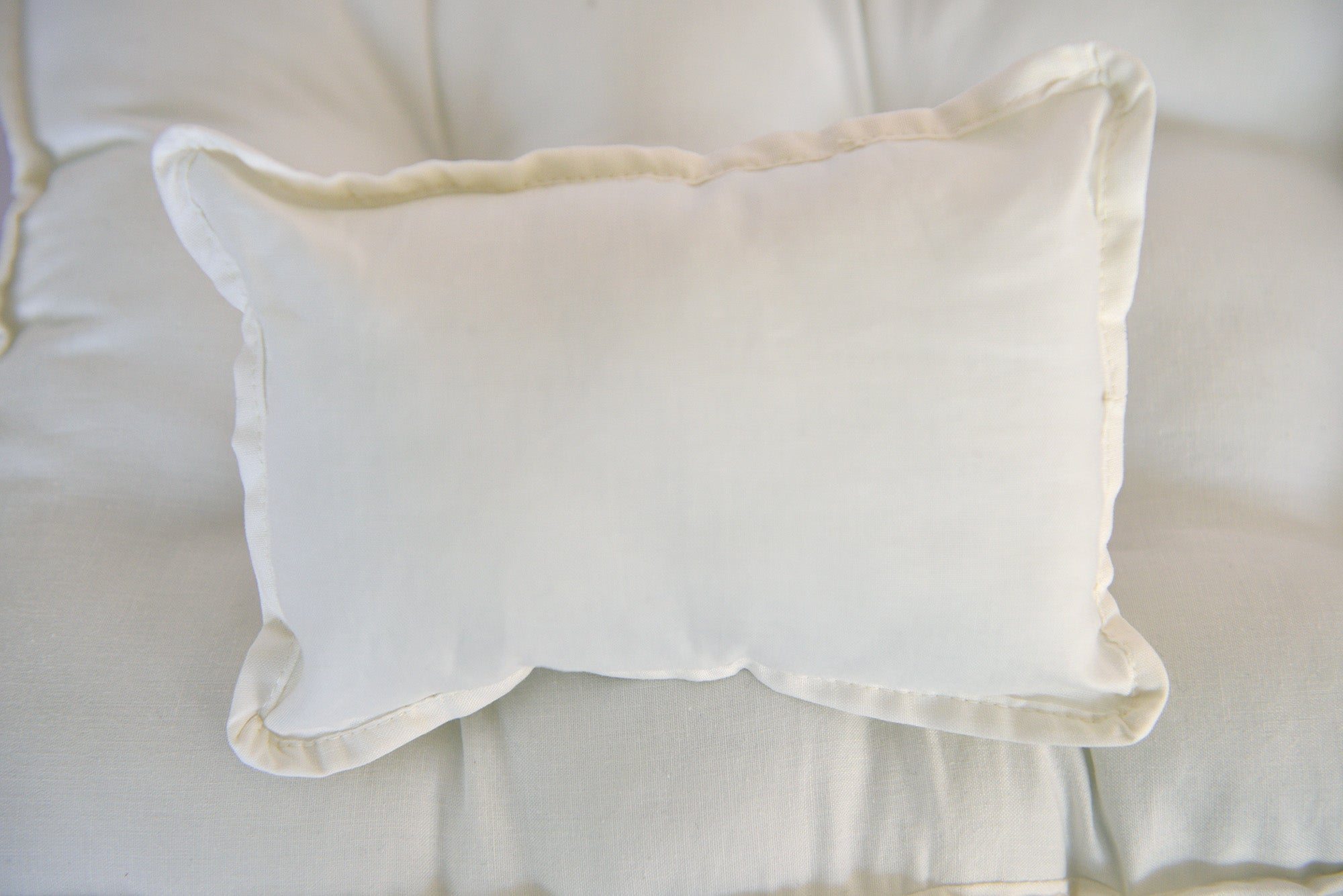 SET Mattress and Pillow - Solid Bone-Newborn Photography Props