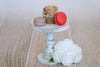 Rustic Cake Stand/Nightstand - 6.5in Tall - White