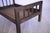 Rustic Bed - Straight Headboard with Spindles - Brown