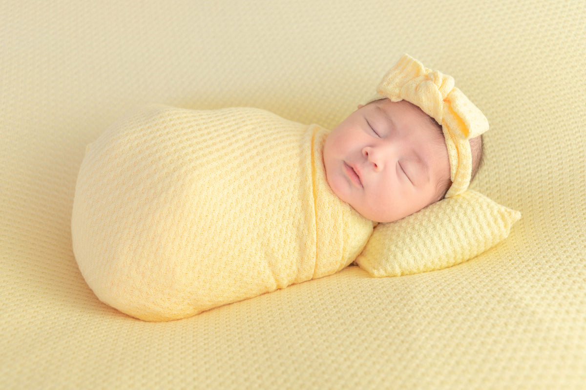 Bean Bag Set - Perforated Baby Yellow