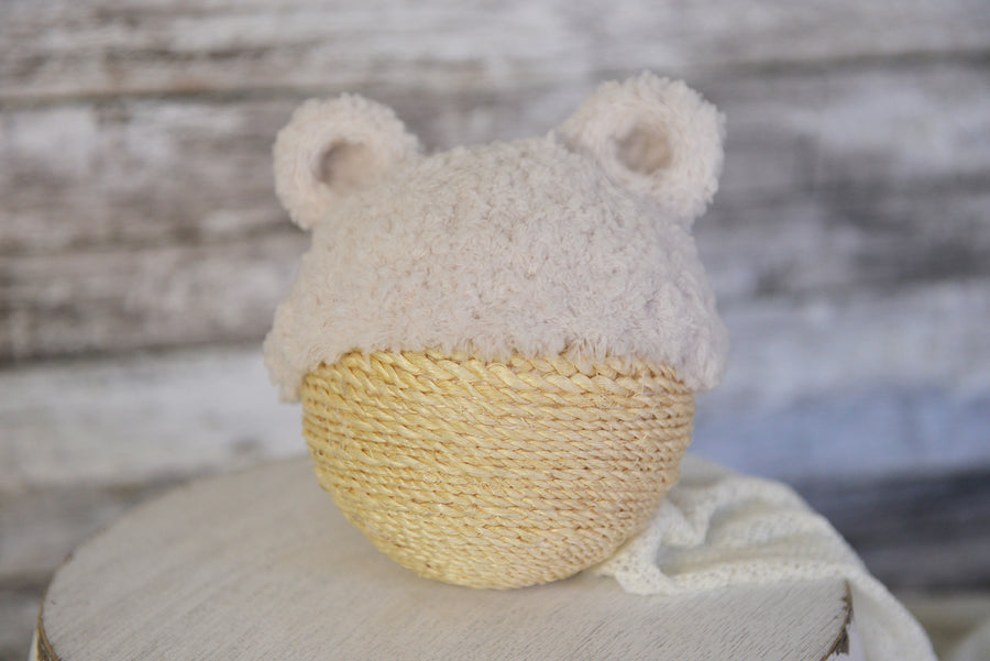 Teddy Bear Hat - Oatmeal