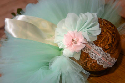 Tutu and Headband - Mint