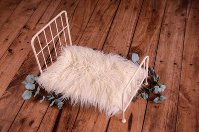 Vintage Bed - White Model 5-Newborn Photography Props