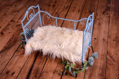 Vintage Bed - Blue Model 3-Newborn Photography Props