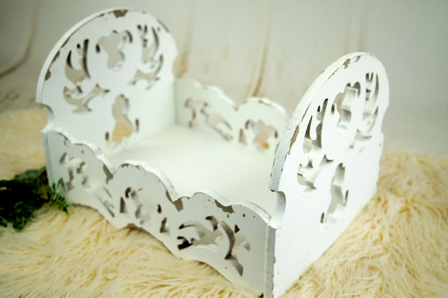 Vintage Crib - Enchanted - White