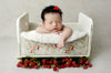 Vintage Crib - Off White Printed Side-Newborn Photography Props