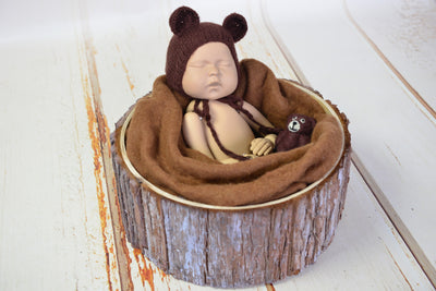 Wool Wrap - Brown-Newborn Photography Props