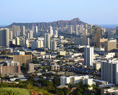 Crowded Honolulu
