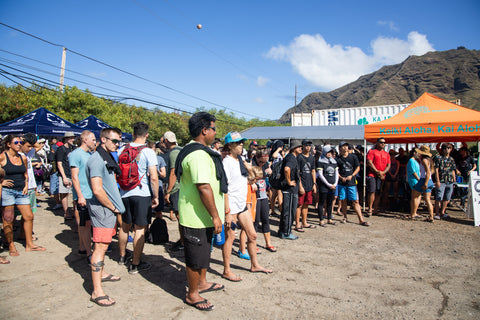 Group Gathered at Sustainable Coastlines - Hawaii on Makua Beach on September 21, 2019