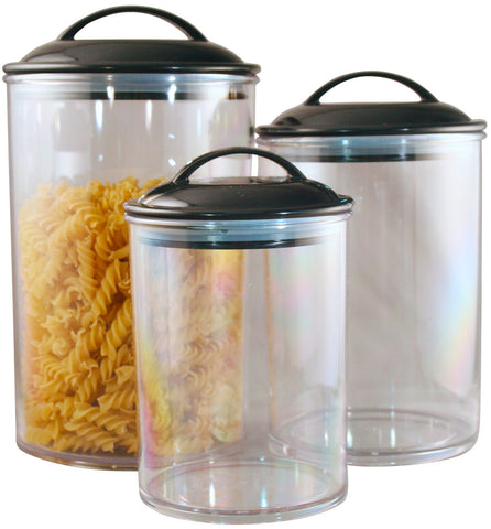 Reston Lloyd Black Acrylic Canister set of 3