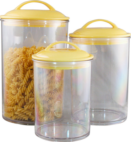 Reston Lloyd Lemon Acrylic Canister Set of 3