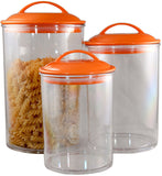 Reston Lloyd Orange Acrylic Canister Set of 3