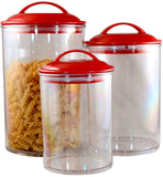 Reston Lloyd Red Acrylic Canister Set of 3