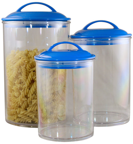 Reston Lloyd Azure Acrylic Canister Set of 3