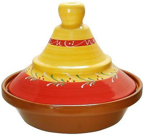 Cooking Tagine 2 Qt Terra Cotta Tajine Lead Free Cook Pot Clay Cookware Yellow
