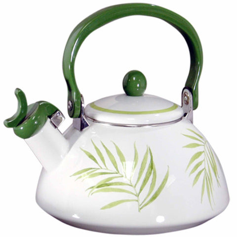 Bamboo Leaf Tea Kettle Whisling