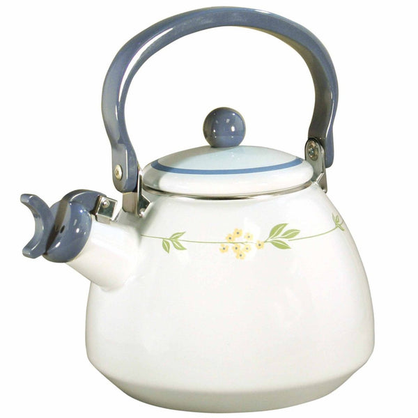 Secret Garden Whistling Tea Kettle 2 Quarts Corelle