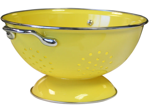 Calypso Basics 3 Quart Powder Coated Colander, Lemon
