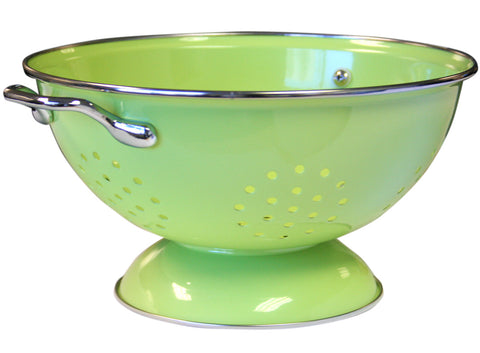 Calypso Basics 3 Quart Powder Coated Colander, Lime