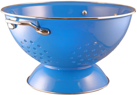 Calypso Basics 5 Quart Powder Coated Colander, Azure
