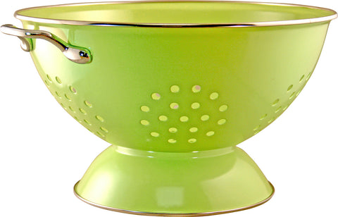Calypso Basics 5 Quart Powder Coated Colander, Lime