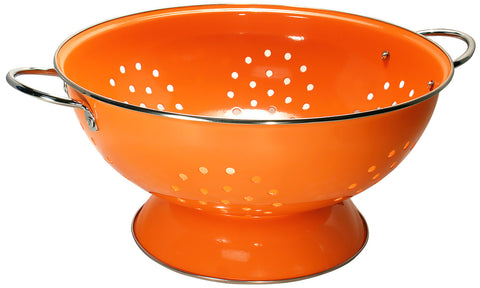 Orange Strainer 7 Qt Capacity Colander Stainless