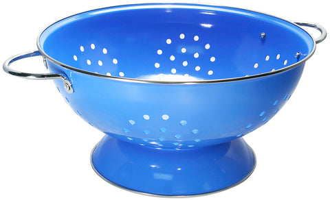 Calypso Basics 7 Qt Colander and Strainer Azure Stainless Steel