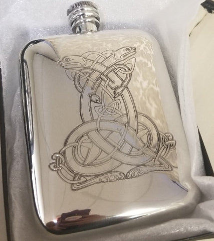 30101 - Alchemy Sheffield Pewter Flask - Very Rare
