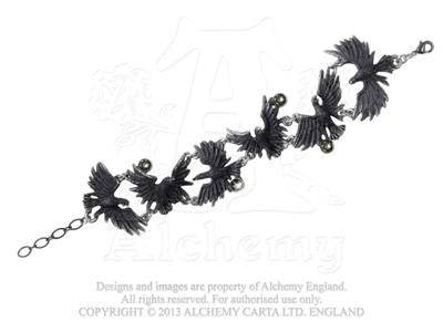 A101 - Flocking Ravens Bracelet by Alchemy of England