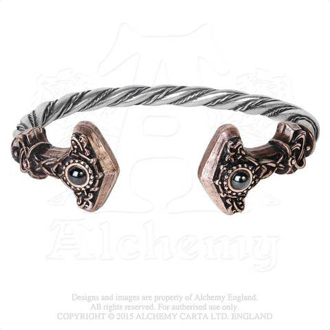 A107 - Thunder Torque Bracelet by Alchemy of England