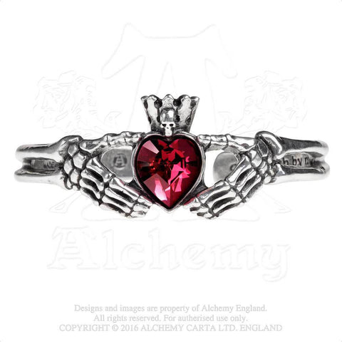 A114 - Claddagh By Night Bracelet by Alchemy of England - New