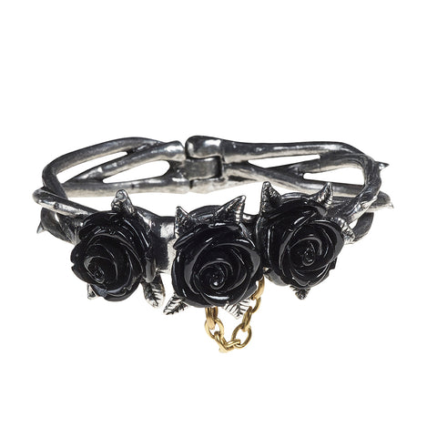 A125 - Wild Black Rose Bracelet by Alchemy of England