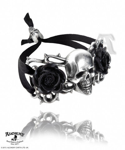 A96 - Skull & Briar Rose Bracelet by Alchemy of England