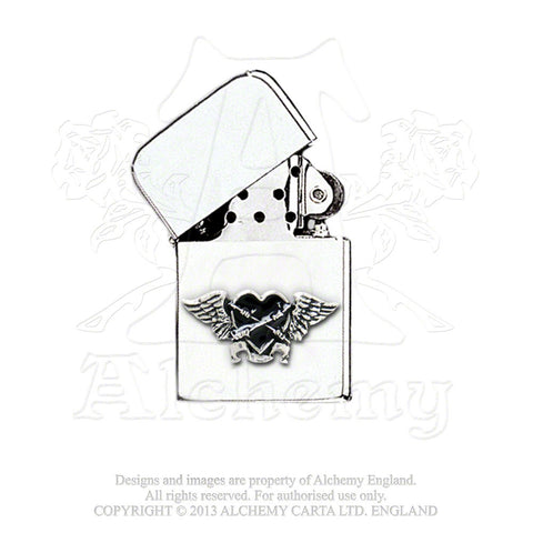 AAZ45 - Black Heart Lighter by Alchemy of England - Rare