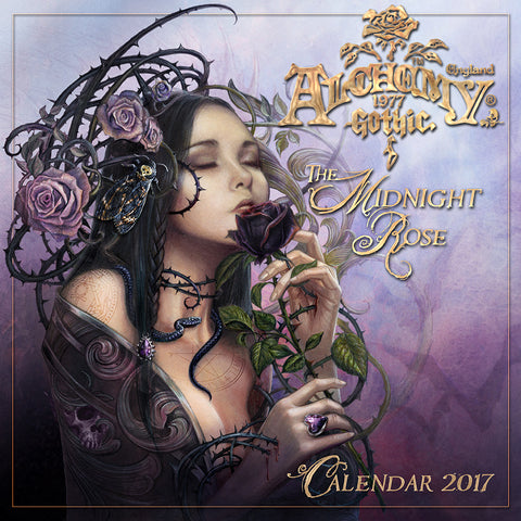 2017 Midnight Rose Alchemy Gothic Calendar - New