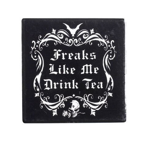 CC5 - Freaks Like Me Drink Tea Ceramic Coaster Set by Alchemy of England