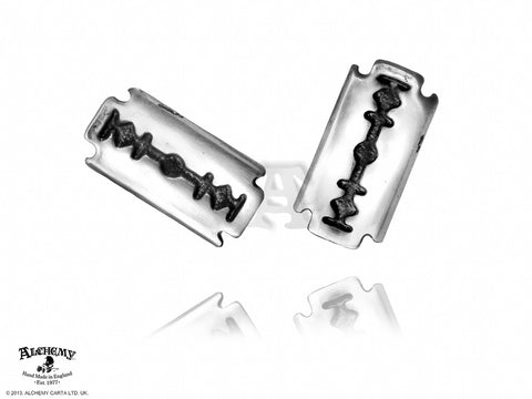 E258 - Razor Earrings by Alchemy of England