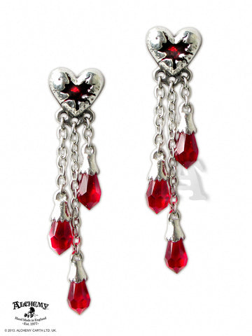 E272 - Bleeding Heart Earrings by Alchemy of England